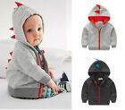 Baby Boys Toddler Kids Hoodie Fleece Sweatshirt Jacket Hooded Clothes Tops Coat