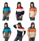 New Style Cool Thin Knit Jumper Striped Crew Neck Long Sleeve Pullover Sweater