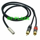 3.5mm jack stereo to 2-RCA plug mono Pro Lead DIY Y Cable Canare L-4E6S 3~12M