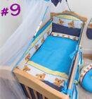 5 Piece Baby Bedding Set Nursery Cot Cot Bed Long All Round Padded Bumper