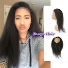 7A Peruvian Hair 360 Band Full Lace Frontal Closure With Baby Hair Italian Yaki