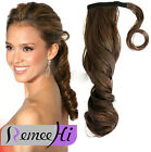"15""-24"" Wavy  ponytail with strings 100% Remy human hair extensions 80g"