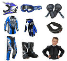 Kids Childrens Motocross Quad Kit Wulfsport 2017 Attack MX Ultra Set Blue #7
