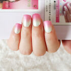 24Pcs Artificial Nail Art Acrylic UV Gel French Natural Full False Nails Tips