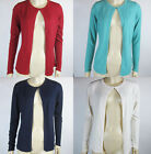 Womens Ex M&S Open Cardigan Long Sleeves Acrylic Size 12 14 16 18 20, 4 Colours