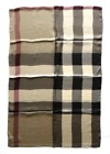 BURBERRY SILK SCARF SCARVES SCARF DARK 190 X 70 cm CHECK