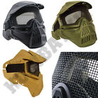 Airsoft Mask Metal Mesh Goggles Eye Face Protection For Airsoft BB Gun Sports