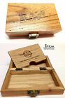 RAW Deluxe Wooden Storage Rolling Box  Natural Unrefined Rolling Papers