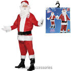 CA117 8pcs Complete Santa Claus Suit Christmas Xmas Fancy Dress Costume Outfit