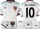 16 / 17 - UMBRO WEST HAM UNITED AWAY SHIRT SS + PATCHES  DI CANIO 10 = KIDS SIZE