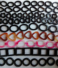black pink red heart square oval pear flower onxy agate hollow out loose beads