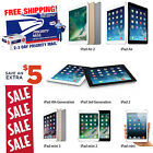 Apple iPad 2,3,4,Air or mini 16GB 32GB 64GB 128GB Pro-Refurbished WiFi Tablet