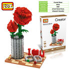 I love U Rose rings Valentine Romantic propose gift LOZ iBLOCK Lego Nano xmas