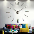 Fashion DIY 3D Wall Clock Home Office Decoration Bell Cool Mirror Stickers Watch