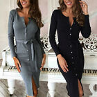 Women Bandage Bodycon Slim Long Sleeve Evening Sexy Party Cocktail Pencil Dress