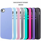 Shock-Absorption Bumper Anti-Scratch Shell Soft Hybird Case for iPhone 5 5s SE