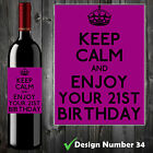 KEEP CALM PERSONALISED BOTTLE LABEL XMAS CHRISTMAS GIFT SON DAUGHTER