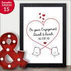 On Your Engagement Personalised Gift - Couples Keepsake Print Frame Mr Mrs Love
