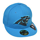 New Era Carolina Panthers 59fifty NFL  Men's Fitted Hat Cap Blue/Black/Silver