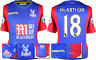 16 / 17 - MACRON CRYSTAL PALACE HOME SHIRT SS + PATCHES / McARTHUR 18 = SIZE*