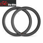 700C Carbon Road Bike Bicycle Single Rim 16 32 Holes 60mm Tubular 3K Carbon Rim