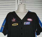 NASCAR V-NECK BUTTON DOWN SHIRT LICENSED JERRY LEIGH L, XL NEW W/TAG!