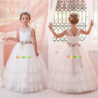 Flower Girl Dresses Princess Pageant Wedding Birthday Prom Party Ball fluffy 2-9