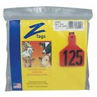 Farnam Z Cow Tag RED #76-100 25 Ct. Easy Application Prevent Disease Transfer