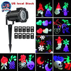 Xmas Snowflake Laser Projector Light 10 Slides Party Garden House Landscape US D