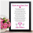 Walk with me Auntie Keepsake Poem - Personalised AUNTIE Christmas Gifts Aunty