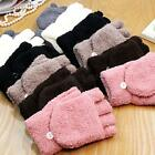Fashion Unisex Women Men Knitted Fingerless Winter Gloves Soft Warm Mittens