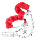 Fetish Fantasy  Furry Leg Cuffs RED Soft Faux Fur Padded Beginners