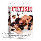 Fetish Fantasy Series Beginner's Bondage Set BLACK Velvet Feather Tickler Candle