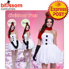 K285 Ladies Snow Man Funny Santa Christmas Xmas Fancy Dress Up Costume Outfit