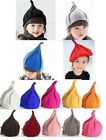 Winter Autumn Warm Steeple Baby Children Pointy Knit Hat Pumpkin Hat Nipple Cap