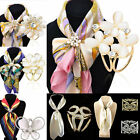 Womens Scarf Silk Ring Clip Gold/Silver Plated Buckle Scarve Buckle Pin Brooches