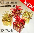 24x CHRISTMAS CANDLE HOLDERS LANTERNS LED TEA LIGHT TEALIGHT PARTY XMAS FOLDING