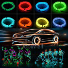 15ft Neon Led Light Glow El String Wire Strip Rope Car Dance Party+controller Us