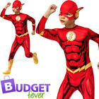 The Flash Boys Fancy Dress Comic Book Day Superhero Kids Childs Costume Outfit