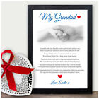 My Grandad Personalised Keepsake Poem Christmas Xmas Birthday Gifts Presents Him
