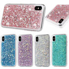 Bling Glitter Sparkle Rubber Soft TPU Back Case Cover For Apple iPhone 6s 7 8 X