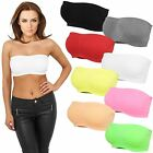 URBAN CLASSICS LADIES PADS BANDEAU NEON TOP Tanktop Stretch Shirt Sport Dessous