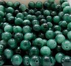 Green Moss Agate Round Gemstone Beads various sizes  - B004