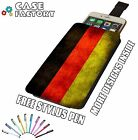 German Germany Vintage Country Flag - Universal Leather Pouch Phone Case Cover