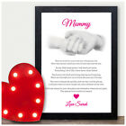 Gifts for Nanny Nan Nana Mum Mummy Personalised Birthday Poem Gifts for Her Mom