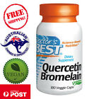 Doctor's Best, Vegan Quercetin Bromelain, 60 - 180 Caps, supports tissue comfort