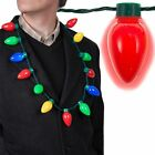 10xLED Light Up Christmas Bulb Necklace Party Favors for Adults or Kids Flashing