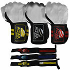"""Power Weight Lifting Wrist Wraps 14"""" Long Gym Training Bandages Fitness Straps"""