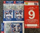 3 NY Giants vs Dallas Cowboys Mezz Club Tickets 12 11 16 with Red Parking Pass