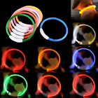 USB Rechargeable Pet Dog Collar LED Flashing Light Up Safety  Waterproof 50 cm